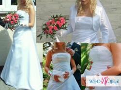 Sprzedam suknię ślubną z dodatkami (800zł)
