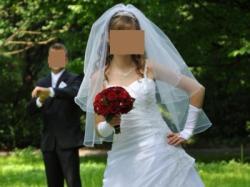Sprzedam suknię ślubną z dodatkami - !!! Wyjatkowa OKAZJA !!! - Olsztyn