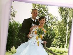 sprzedam suknie ślubną z dopinanym trenem