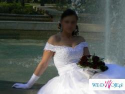 Sprzedam suknie ślubną z pięknym trenem