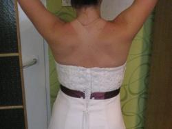 Sprzedam suknię ślubną z szarfą