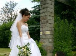 Sprzedam suknie ślubną z trenem!!!!