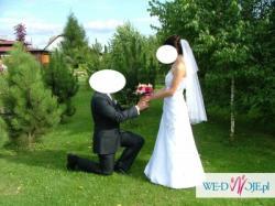 Sprzedam suknię ślubną z welonem MYSŁOWICE, SKOCZÓW, WODZISŁAW