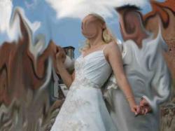Sprzedam tanio b.ładną i nietypową suknię ślubną!