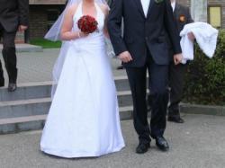 Sprzedam TANIO elegancką suknię ślubną