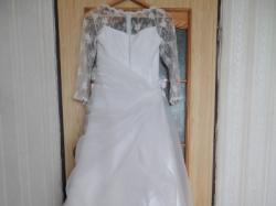 Sprzedam Tanio Suknię Ślubną rozmiar 36 ze stroikiem do włosów