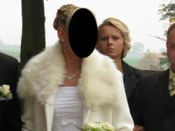 Sprzedam taniutko białą suknię ślubną z tafty rozmiar 38