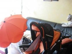 Sprzedam wózek BAby MERC-pompowane koła z amortyzatorami + GRATISY!!!