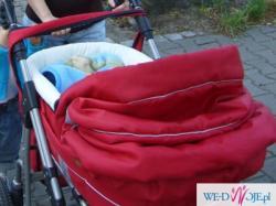 sprzedam wózek dziecięcy głęboki+spacerówka