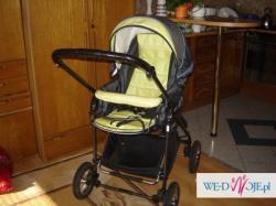 Sprzedam wózek głęboko-spacerowy Deltim Fokus z fotelikiem
