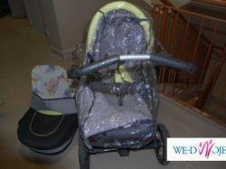 Sprzedam wózek Jedy Fyn 3DS (gondola+spacerówka) + fotelik Delti