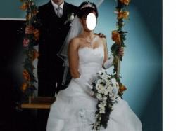 Sprzedam wspaniałą suknię ślubną z trenem. TANIO!!!