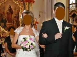 Sprzedam wyjątkowo śliczną suknię ślubną a'la Demetrios 1341 + 2 bolerka + welon