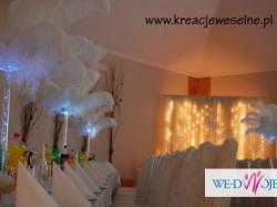 STRUSIE PIÓRA dekoracje weselne