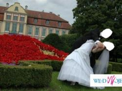 Stylowa i elegancka suknia ślubna r. 38 (M)