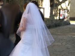 Stylowa i seksowna suknia ślubna 36S + buty + welon +bolerko NowySącz