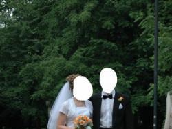 Stylowa suknia ślubna r. 38 (M)