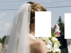 Stylowa suknia ślubna z koronką z kamieniami SVAROVSKI rozmiar 36-38