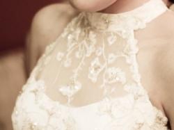 Subtelna suknia ślubna ecru 36