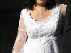 Sukienia ślubna dla oczekujących dzidziusia:)