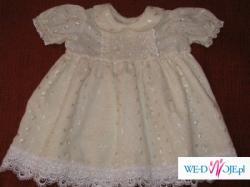 Sukienka do chrztu + sweterek