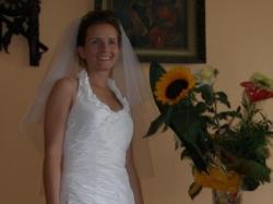 Sukienka ecru, Elizabeth, rozm. 36-38 + welon+halka