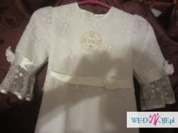 sukienka komunijna 140 +wianuszek i torebka