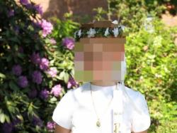 Sukienka komunijna  80zł+gratis wianek i torebka