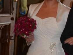sukienka śliczna ślubna Ecru+ bolerko+ buty