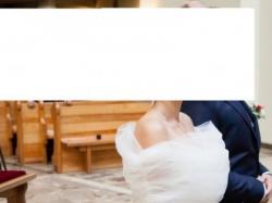 Sukienka Ślubna Anna Kara Leander + narzutka na ramiona