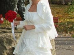 Sukienka ślubna dwuczęściowa - bolerko i welon gratis - 600 zł