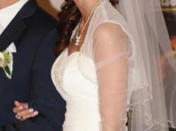 Sukienka Suknia ślubna ECRU rozm.36 38 S/M jak nowa