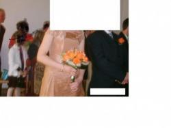 suknia 2 czesciowa +bolerko zlota