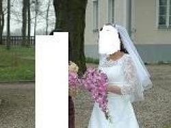 Suknia Agnes 1513 z rękawkami bardzo tanio