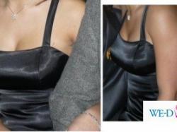 suknia balowa-czarna z odkrytymi plecami