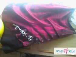 suknia bordowa