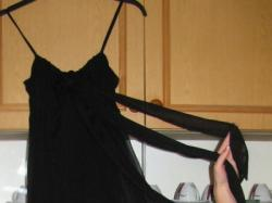 Suknia, czarna, długa, 175cm, 36/38, ramiączka