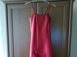 suknia czerwona z bolerkiem