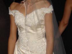 suknia ecru mały rozmiar