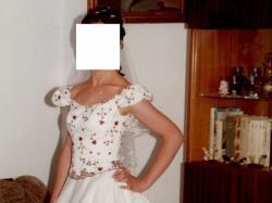 suknia ecru  rozm.38