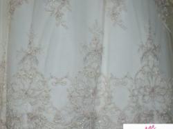 Suknia ecru z koronkowym bolerkiem rozmiar 38/40 marka jola-moda