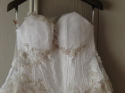Suknia Farge Galaxy 4000 biała z platyną
