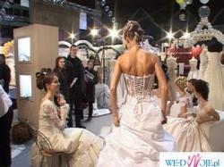 Suknia firmy Farage model Galaxy - kolor biały