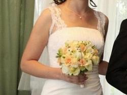 Suknia firmy Gala/Danalea, biała, rozm.40, 174cm.