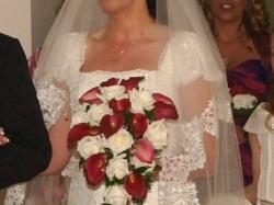 Suknia hiszpanska San patrick balsamo + welon dlugi+ halka