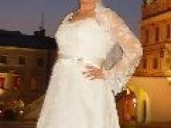 Suknia Jacqueline ecru rozmiar 42/44 pięknie zdobiona