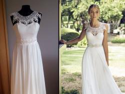 Suknia jak Riki Dalal Provence 1509 muślin rozm 36 / 34 XS S