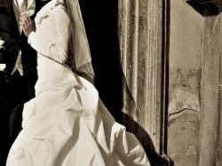 Suknia jak z bajki, kremowa, kryształki, rozmiar S/M