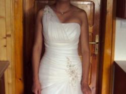 Suknia jasny ecru rozmiar 36-38