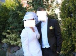 Suknia+kapelusz+bolerko+kamizelka męska